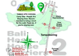 Bali Hash 2 Next Run Map #1491 TAMAN APIS CARANA, Tampaksiring 17-Apr-21