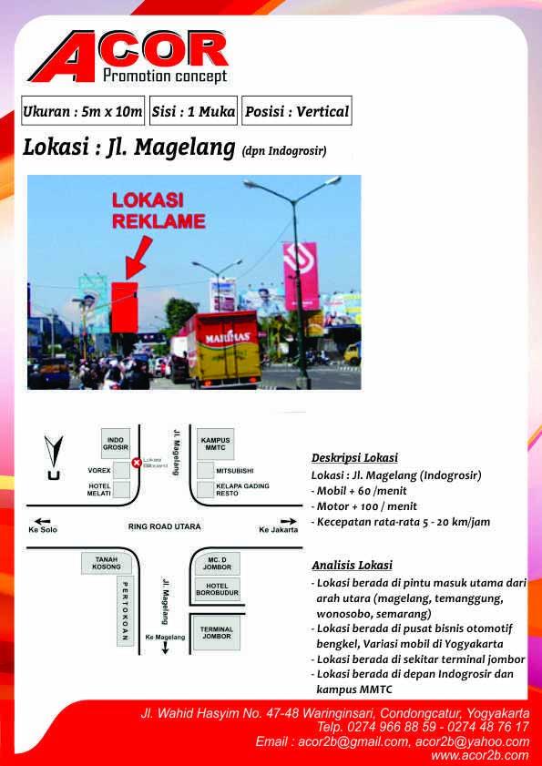 Titik Baliho Jl Magelang (Depan Indogrosir)