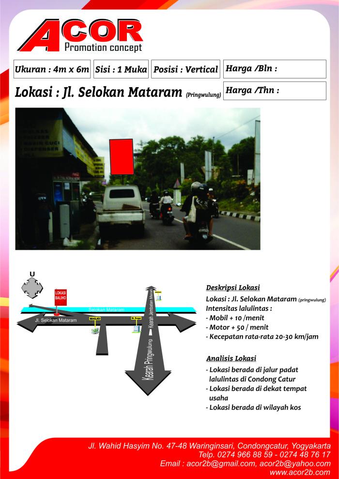 Titik Baliho Jl.Selokan Mataram (Pringwulung)