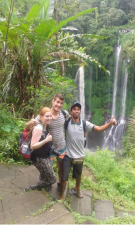 Hiking with nice couple to sekumpul village