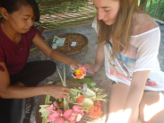 Learn how to make balinese offering in Mayong Village