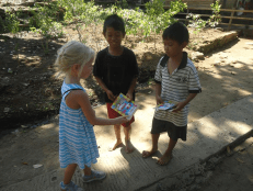 Meet local children during hiking tour in mayong Village