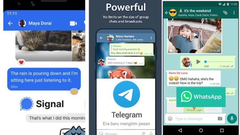 Signal vs Telegram vs Whatsapp Siapa yang Paling Aman