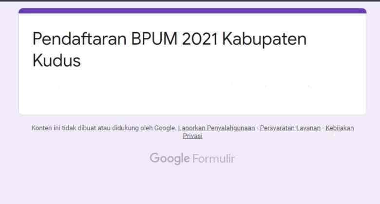 https://bit.ly/bpum2021kudus, Daftar BPUM Tahap 3 Kab. Kudus April 2021