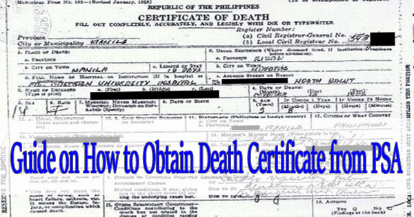 Guide on How to Obtain PSA Death Certificate - Balikbayan