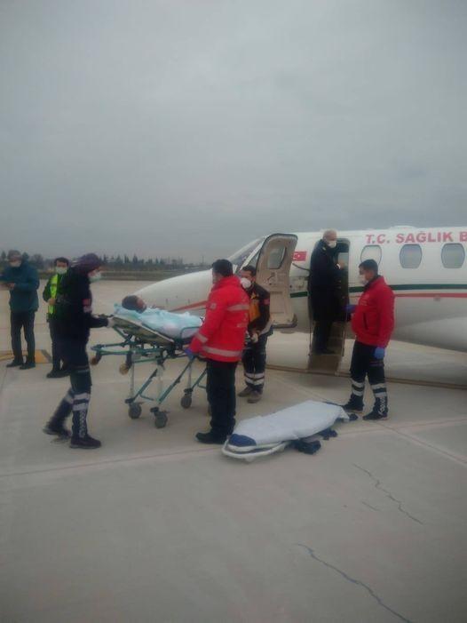 Uçak ambulans Malatya'ya hasta için kalktı