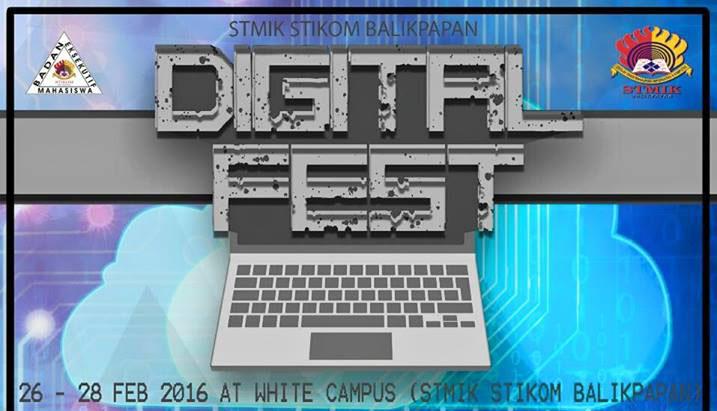 event digital fest stmik stikom balikpapan