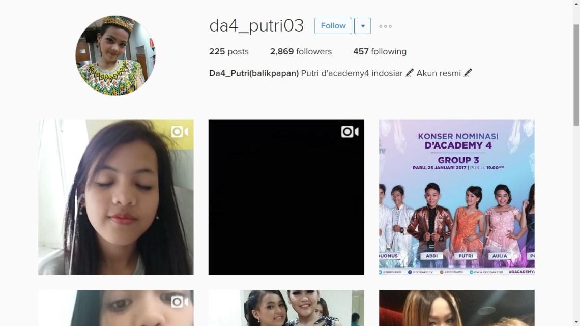 instagram putri isnari Balikpapan d academy 4