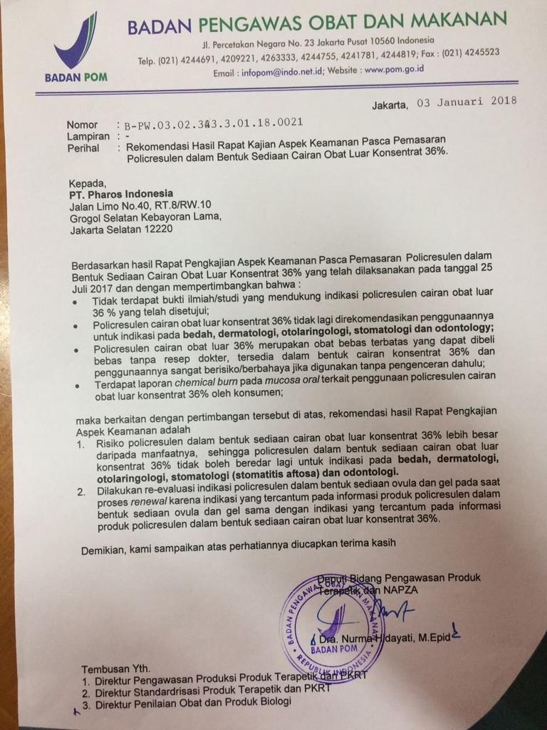 surat larangan BPOM abothyl