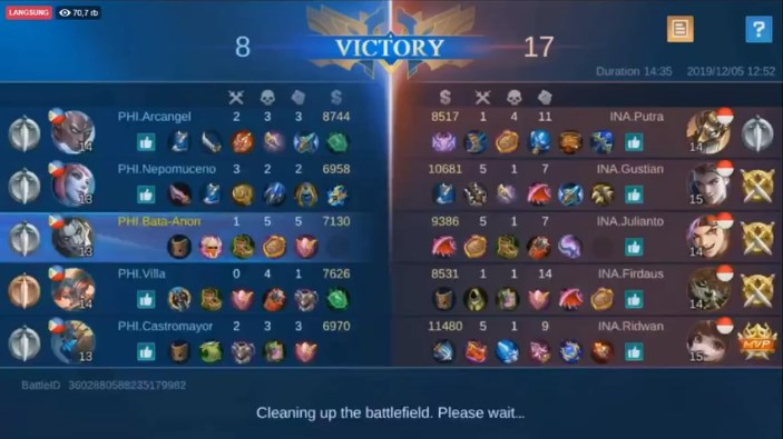 babak 1 philiphine vs indonesia esports sea games mobile legend