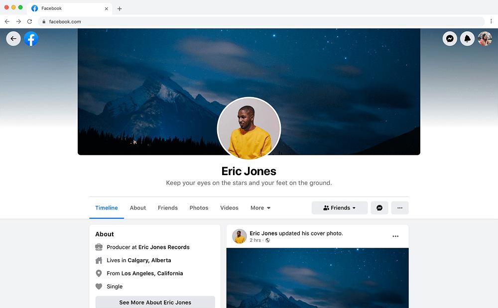 tampilan baru facebook beta 2