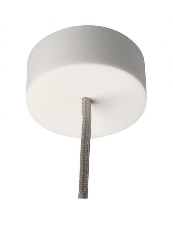 Silikone Loftrosette Plain - Hvid