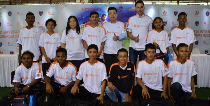 Uni Papua UC Football team Kick Off Press Conference with Damon Xi as General Manager of UCWeb Indonesia and India, Alibaba Digital Media & Entertainment Group