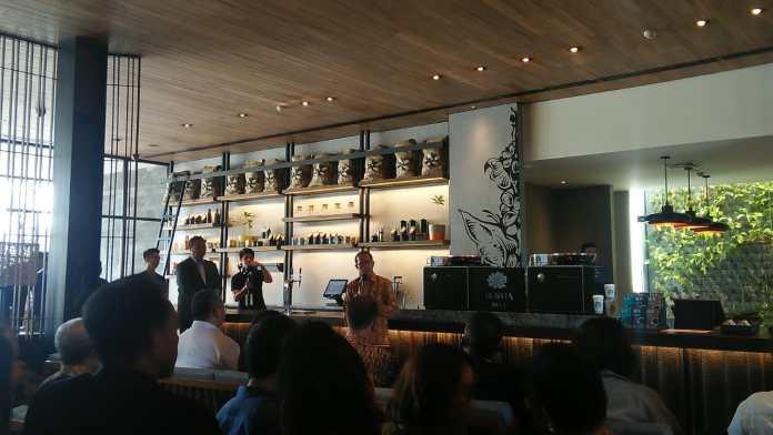 Gde Pitana explained Indonesia's tourism on the grand opening of Starbucks Dewata Bali.