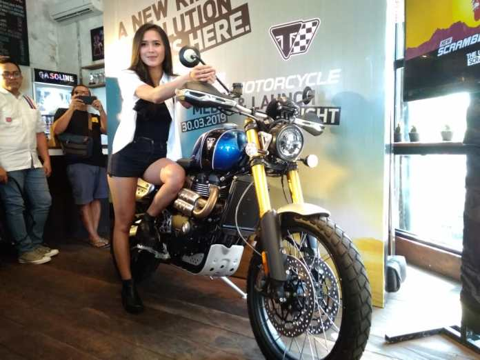 Triumph's Scrambler 1200 XE launched for Bali market on Saturday.