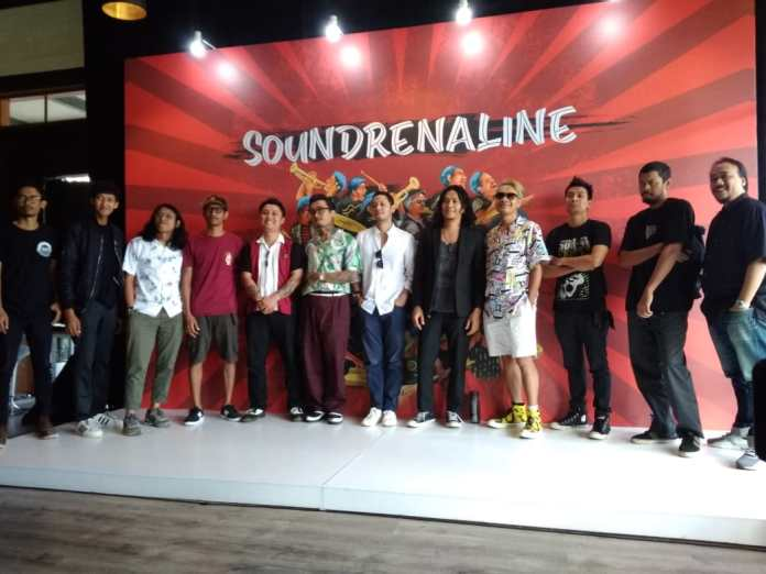 Musicians, artists and organizers of Soundrenaline 2019 at the Talkshow on Thursday.