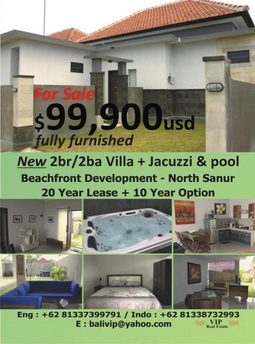 For sale- $99.900.- BEACHFRONT VILLA COMPLEX
