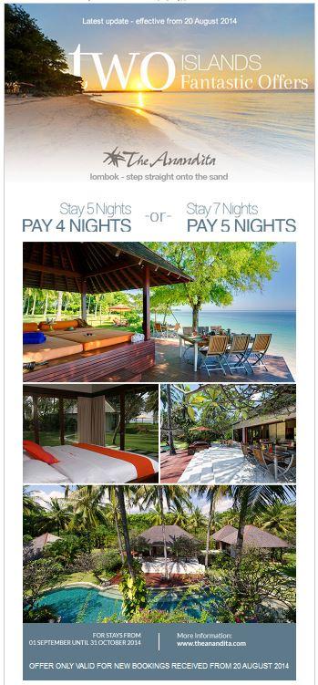 The Anandita Lombok Villa – Discount