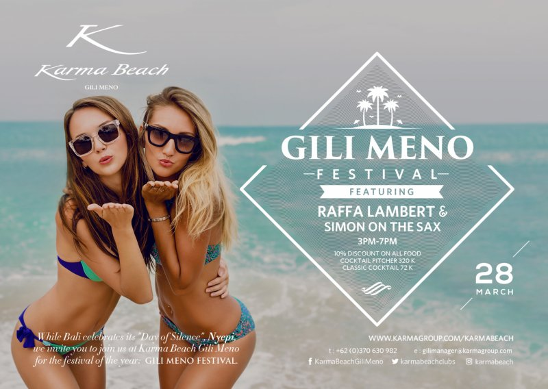 GILI MENO FESTIVAL @ Karma Beach Bali 15. – 16. April