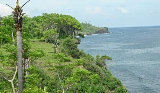 Spectacular cliff front land for sale in East of Bali