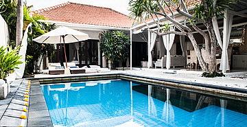 Three Bedroom Villa for lease in Seminyak land 400 sqm Building 115 sqm