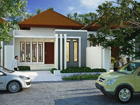 New House 100/45 twobedrooms one bathroom freehold in Ungasan Jimbaran Bali for sale