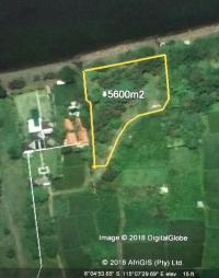 Beach front land 5.600 sqm for sale in North coast Bali