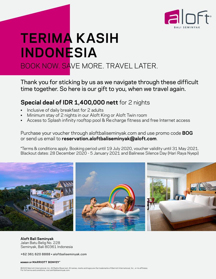 Special Deal from Aloft Bali Seminyak