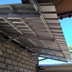 Lisplang Kanopi Baja Ringan Model Setengah Pelana Gewel Bali Roofing