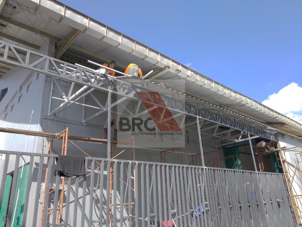 rangka atap baja ringan setengah kuda kanopi – bali roofing