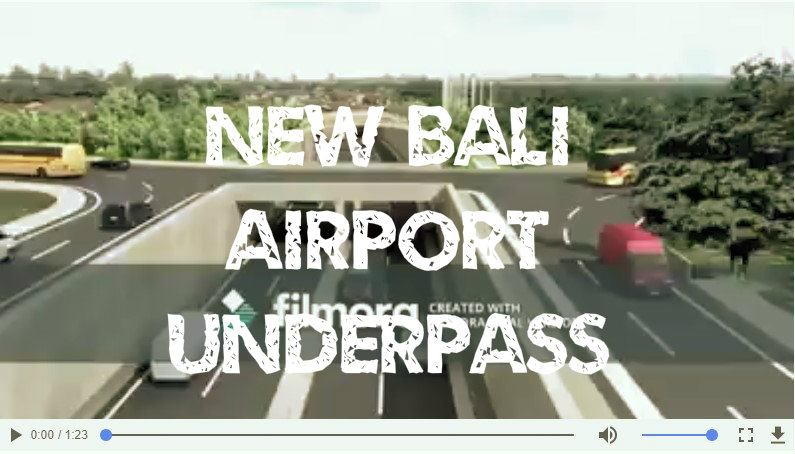 New underpass project near Bali airport [video]