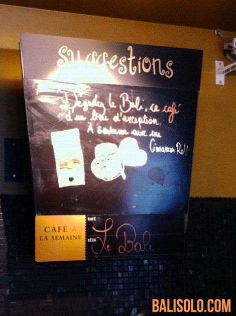Balinese coffee chez Starbucks