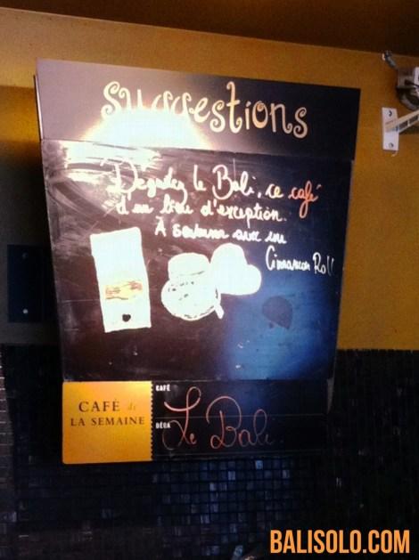Balinese coffee chez Starbucks