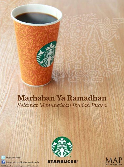 Belle affiche de Starbucks Indonésie pour ce ramadan 2012