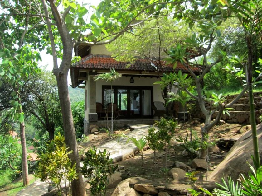 View on room n°3 at Wawa wewe rock homestay in Banuyning (Amed area), Karangasem, Bali, Indonesia