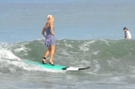 Surf en talons aiguilles à Bali 3