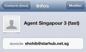 Coordonnées agent pour visa Indonesie à Singapour (2)