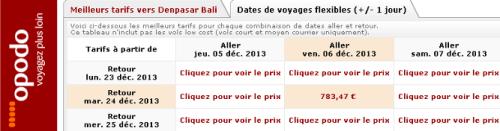 opodo paris bali vols decembre 2013