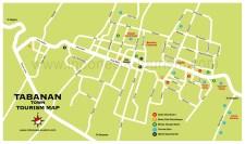 Carte du village de Tabanan à l'ouest de Bali en Indonésie