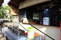 La cuisine et le buffet du petit dejeuner au Warung Coco