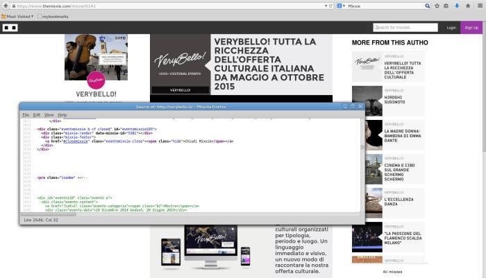 Confronto tra il sorgente di verybello.it e ilPer altro contenuto di themixxie.com