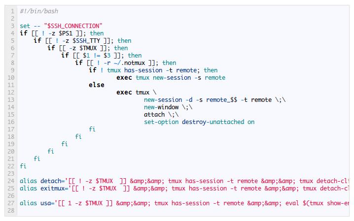 Firing tmux when logging in via ssh   balist es