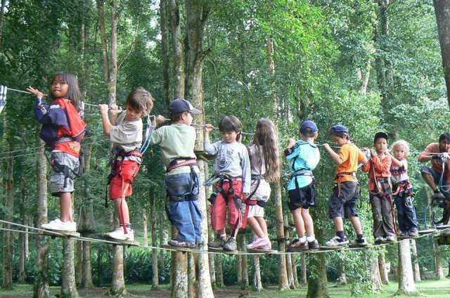 wisata bali anak, Bali TreeTop Adventure,