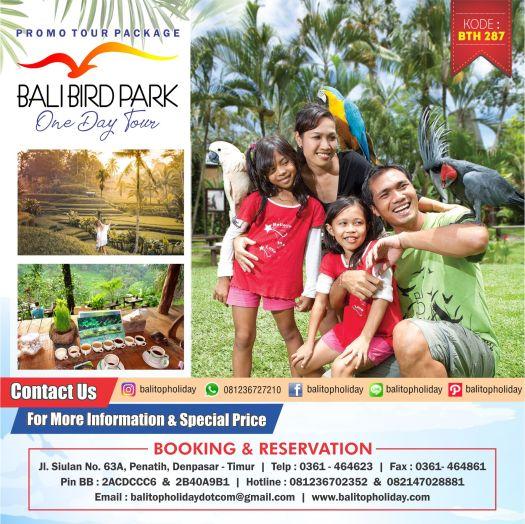 Bali Bird Park one day tour BTH 287