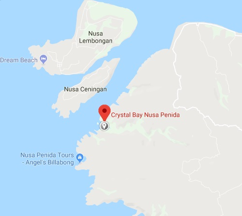 lokasi crystal bay nusa penida