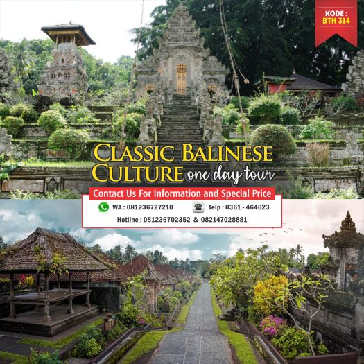 Classic Balinese Culture One Day Tour