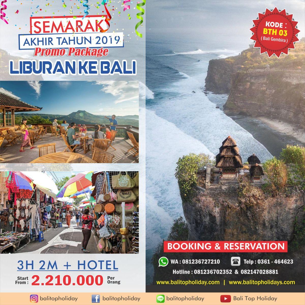 Promo Paket Wisata Paket Tour Bali Desember Akhir Tahun 2019