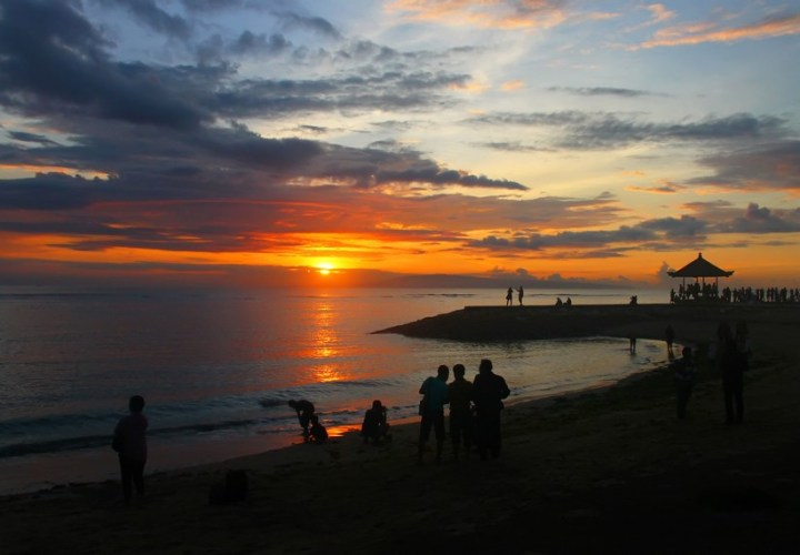 Sunrise and sunset beaches of Sanur