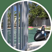 bali villa pool fence safety