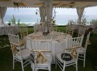 White tiffany chairs | Bali Vintage Florist